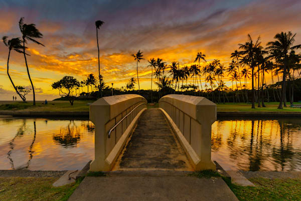 Hawaii Sunset Photography | Bridge to Sunset by Peter Tang
