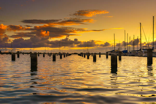 Hawaii Sunset Photography | Sunset At Boat Time by Peter Tang