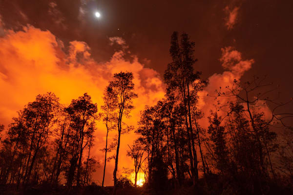 Lava Photography | Moon Watching Lower Puna by Peter Tang