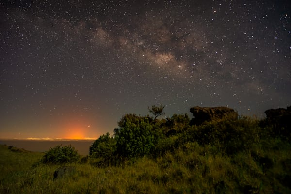 Hawaii Lava Photography | Kilauea Eruption Under the Milky Way by Peter Tang
