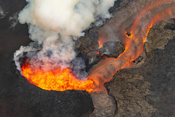Hawaii Lava Photography   Heart of Fissure Eight by Peter Tang