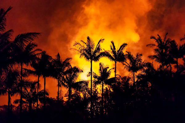 Hawaii Lava Photography | Glow of Fissure Eight by Peter Tang