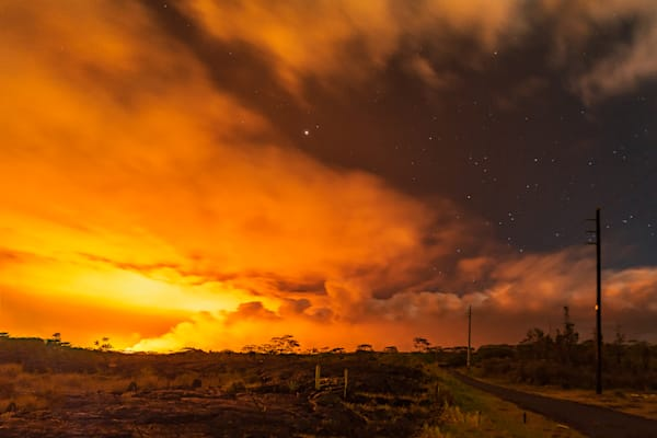 Hawaii Lava Photography | Eruptions Past the Pahoa Flow by Peter Tang