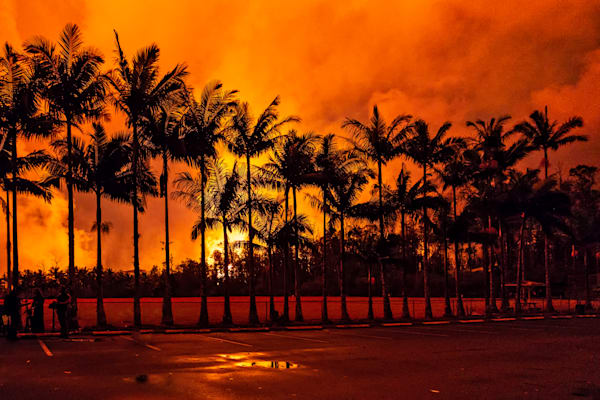 Hawaii Lava Photography | Media at the Eruption by Peter Tang