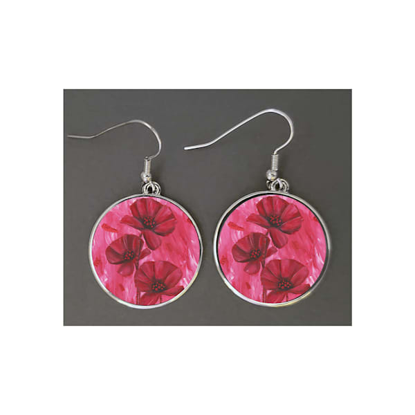 Unique jewelry created with Mare's Art artwork printed right on the earrings, perfect for you or as an artsy gift!