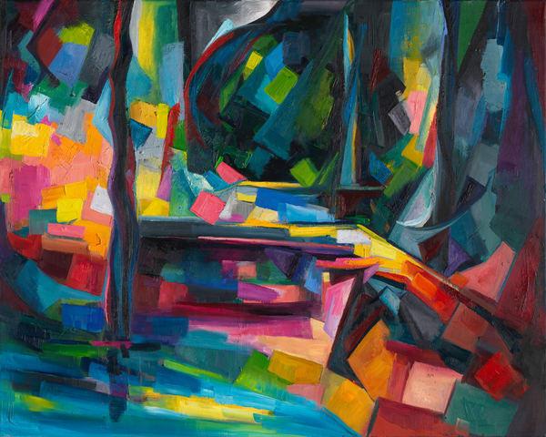 """Formula of Time (after Paul Cezanne's """"Pont de Maincy"""")"""