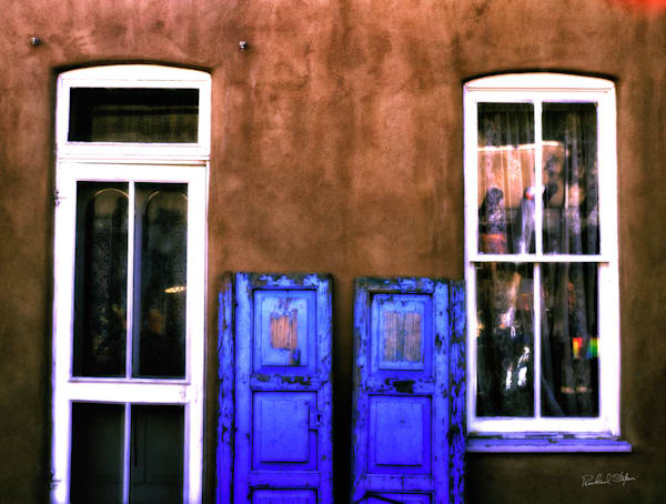 Blue Doors – Taos New Mexico Limited Edition by Richard Stefani