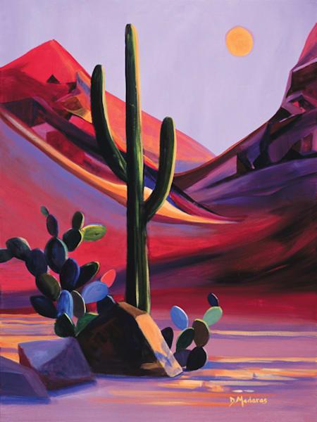 Southwest Sunrise | Colorful Desert Painting