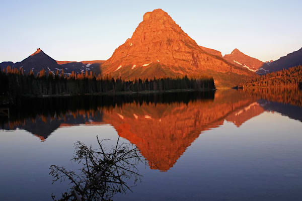 Sunrise at Two Medicine Lake--Sinopah Mountain
