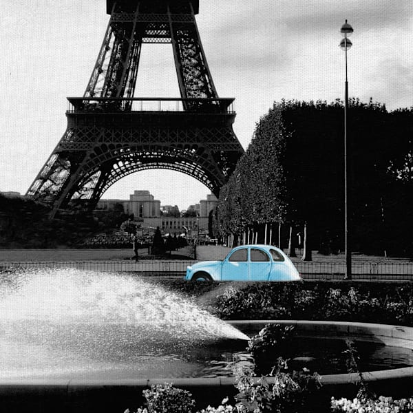 Tower and 2CV by Noah Bay Canvas Art Print