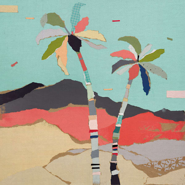 Palm Views I by artist Stefano Altamura Canvas Art Print
