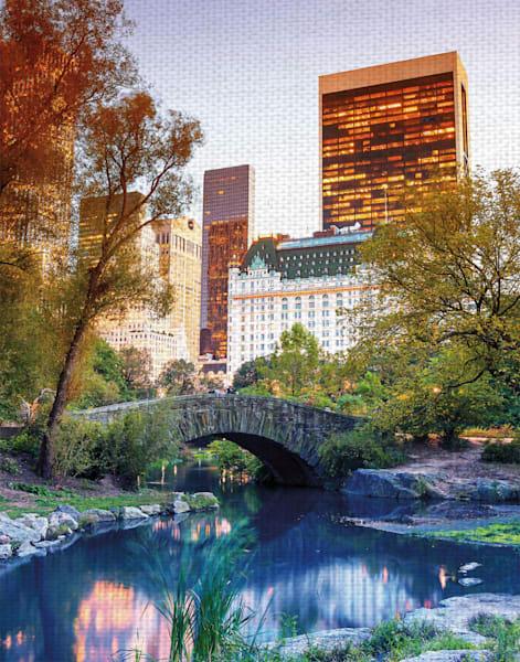 Central Park View by artist GI ArtLab Canvas Art Print