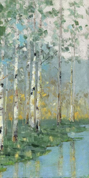 Birch Reflections III by artist Sally Swatland Canvas Art Print