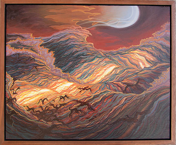 Frenzy Original Oil Painting by Spencer Reynolds