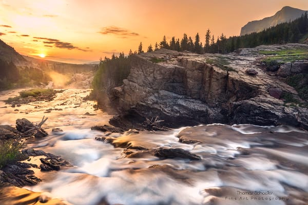 Many Glacier Sunrise/Swiftcurrent Falls Glacier National Park Montana/Fine Art Photography pieces