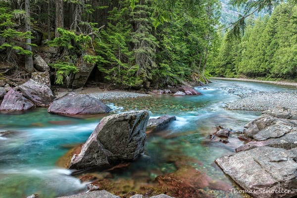 McDonald Creek scenic landscape fine art photography by Thomas Schoeller/Glacier National Park prints