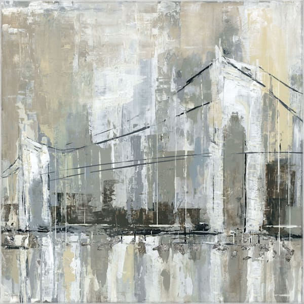 Midtown Bridge I by Artist Carol Robinson Wrapped Canvas Painting Art Print