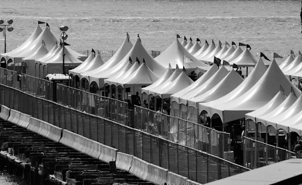 Tents on the pier