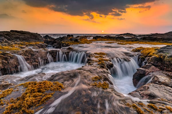 Hawaii Beach Photography | Double Drains by Peter Tang