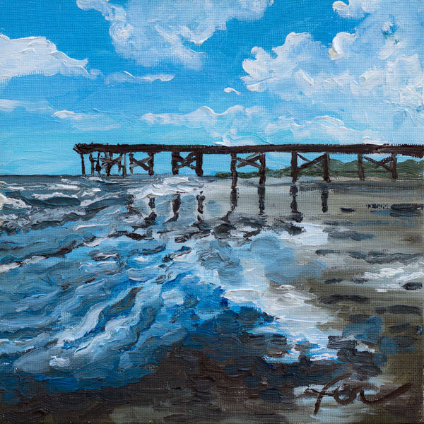 Pier Reflection at Isle of Palms