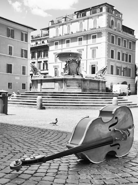 String Bass In Trastevere Art | Instrumental Art