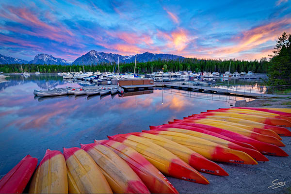 Sunrise at the Marina - Grand Teton National Park, Wyoming.