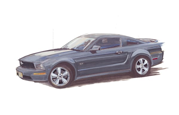 ford mustang gt gray 2005