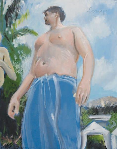 Matt With Blue Towel