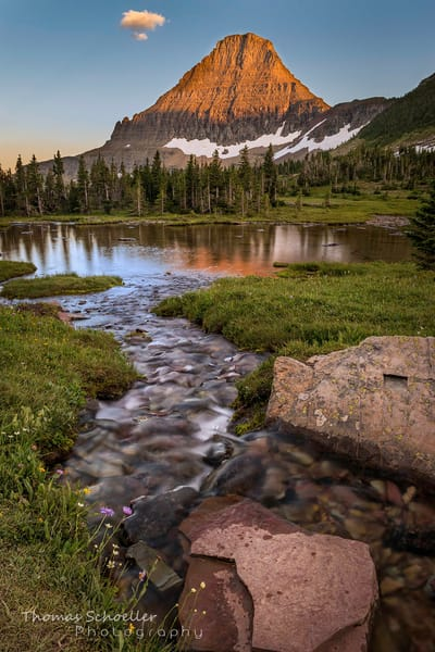 Logan Pass and Mt Reynolds/Hanging Gardens ponds fine art photography prints by Thom Schoeller