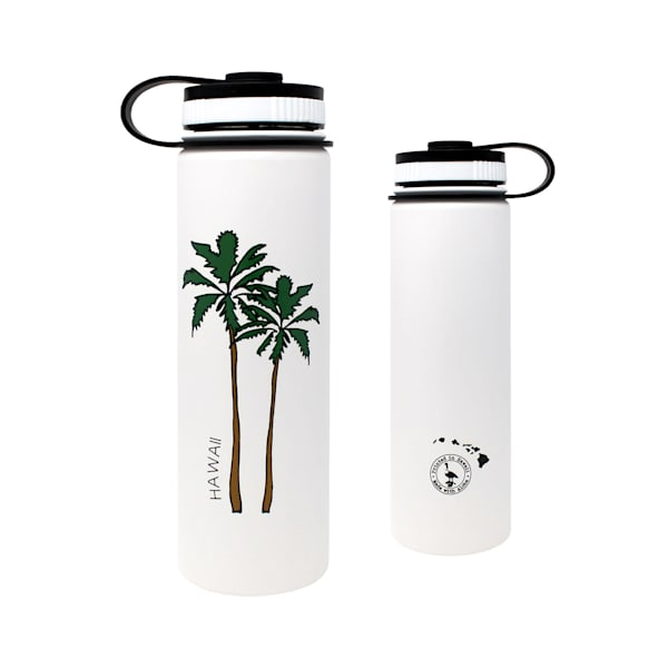 Hawaii Palm Trees Flask