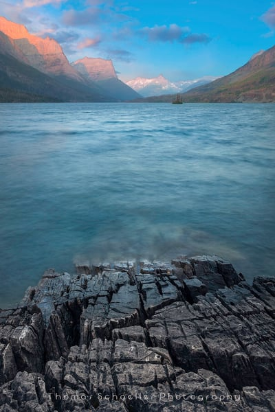 Glacier National Park/St Mary Lake at sunrise fine art photography prints