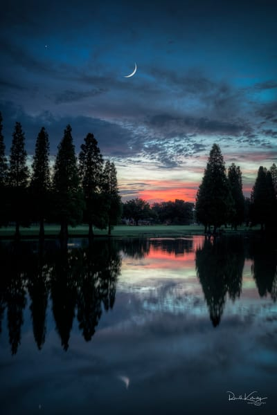 Twilight Moon and Venus Photographic Art
