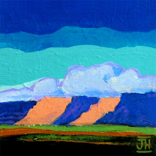 Canyonscape 2, original painting by Jenny Hahn