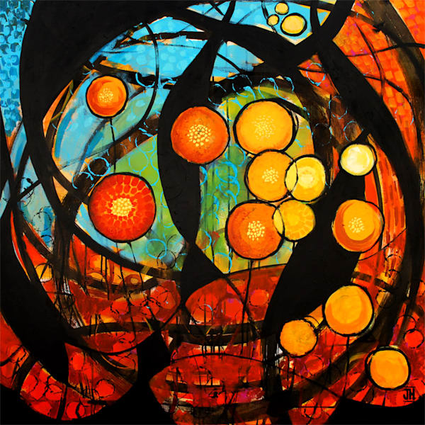 Chaos & Coherence, original painting by Jenny Hahn