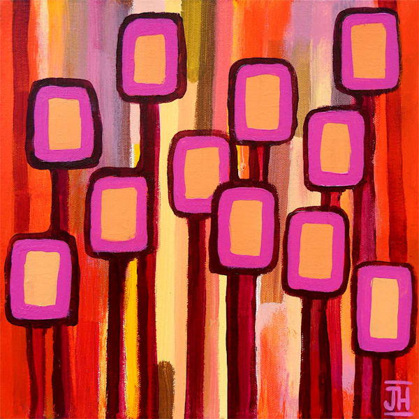 Fuchsia Grove, original painting by Jenny Hahn