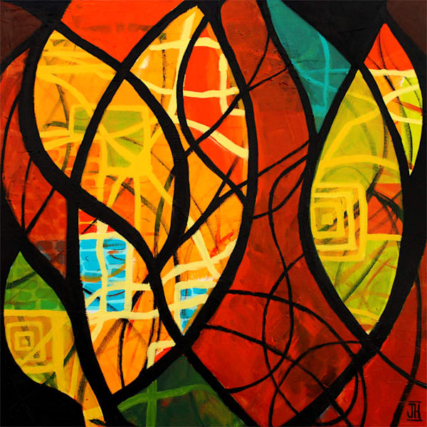 Intermingle, original painting by Jenny Hahn