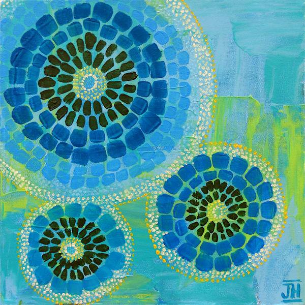 Kaleidoscope 3, original painting by Jenny Hahn