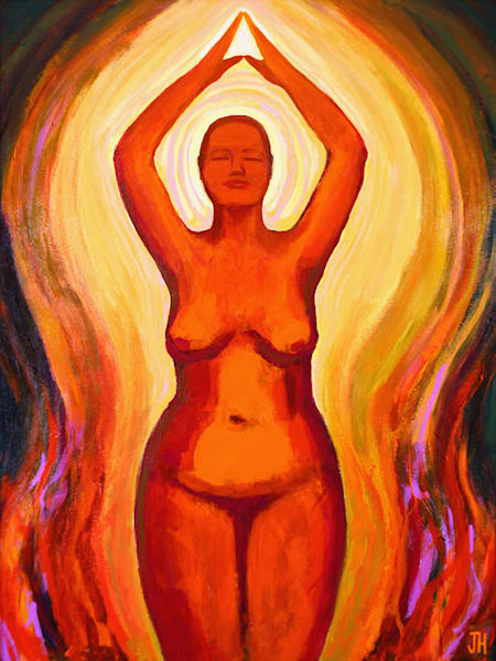 Phoenix, original painting by Jenny Hahn