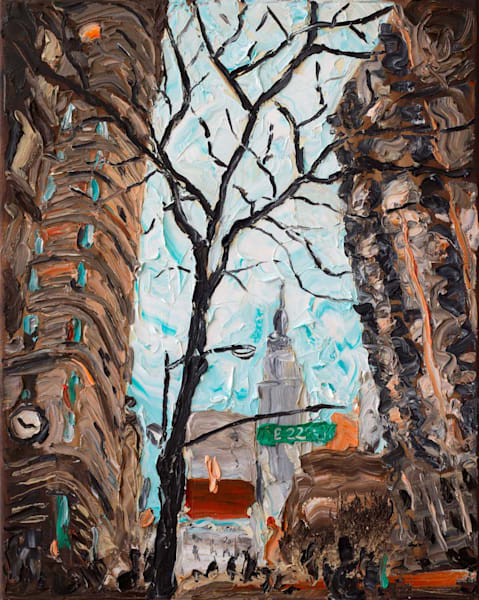 Empire State from Flat Iron Painting | Fer Caggiano Art