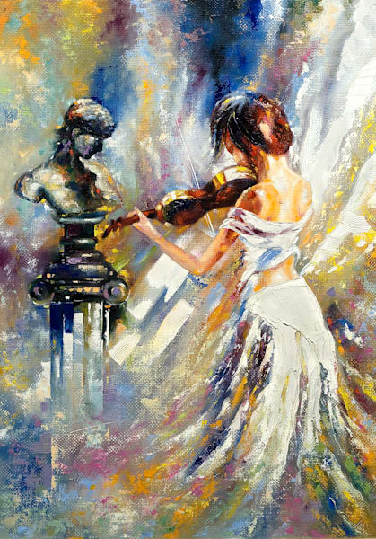 D. Girl Playing the Violin- 7301650