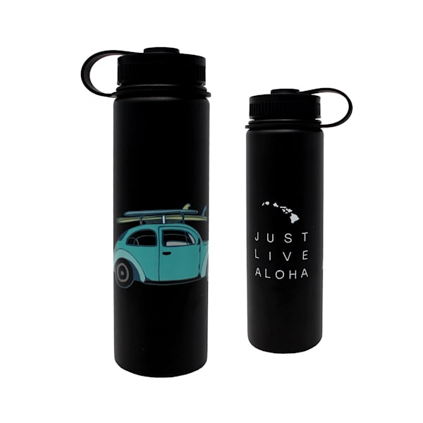Just Live Aloha Bug Flask-Black