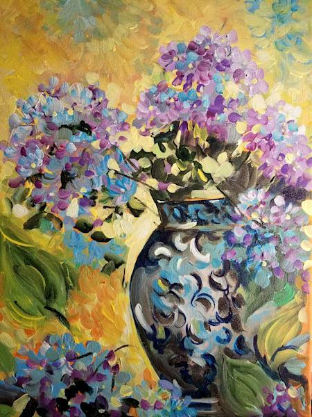 Hydrangea Art | Janak Narayan Fine Art