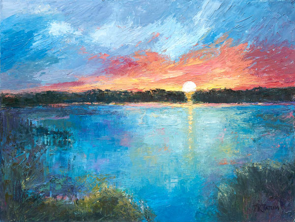 The Marsh At Sunset Ii Art | Pamela Ramey Tatum Fine Art