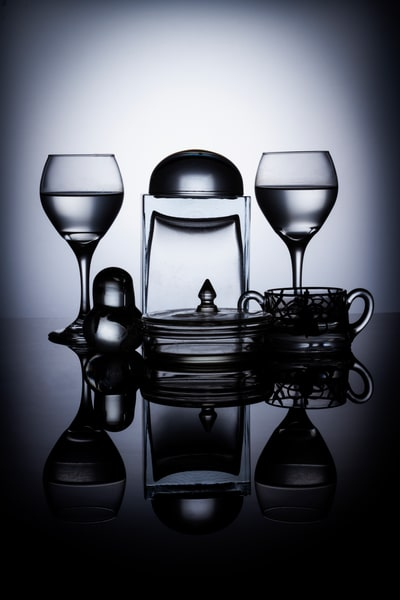 Fine Art Photographs of Glass Black Plexi Reflections by Michael Pucciarelli