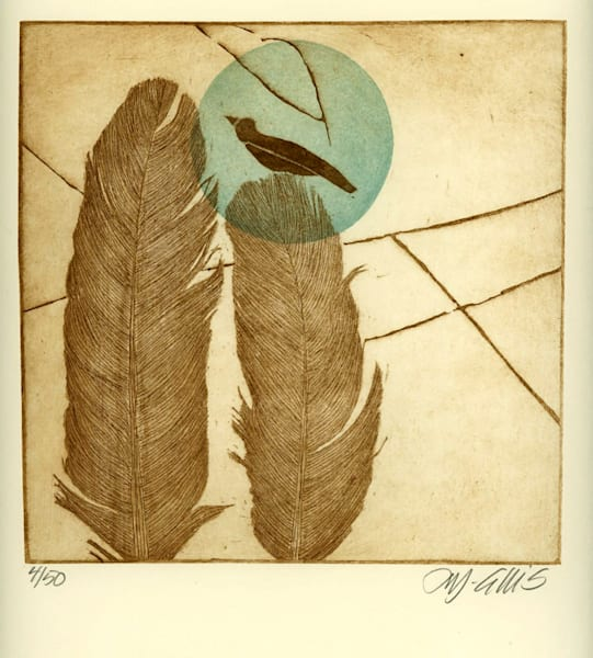 Birds of a Feather - aquatint and soft ground etching