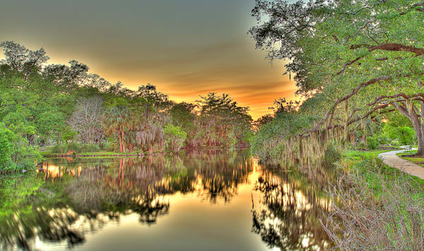 Bayou Sunset Photography Art | Zakem Art LLC