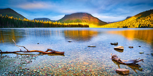 Sunlight Kiss at Two Medicine Lake - Glacier National Park