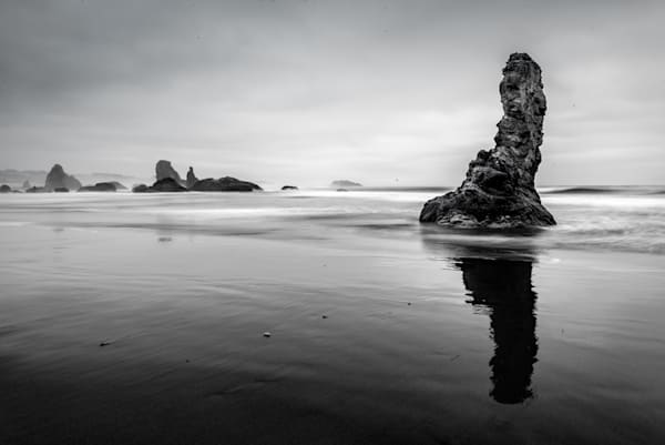 Bandon Sea Stacks (B&W)
