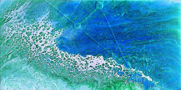 Ley Lines fluid acrylic painting