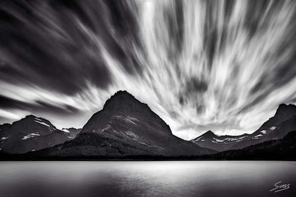 Swift Running Clouds at Swiftcurrent Lake - Glacier National Park, Montana